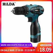 цена на HILDA Electric Drill Cordless Screwdriver Lithium Battery  Mini Drill Cordless Screwdriver Power Tools Cordless Drill