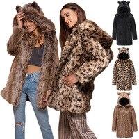 2021 zima nowy damski płaszcz z imitacją futra Trend w modzie z długimi rękawami z kapturem gruba ciepła wąski futrzany płaszcz kurtka