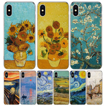 Van gogh Oil Painting Cover Phone Case For Iphone 11 Pro 7 6 X 8 6S Plus XS MAX + XR 5S SE 10 9 Art TPU Coque Capa Shell