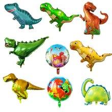 1pc Giant Dinosaur Foil Balloons Jurassic World Animal Ballons Birthday Party Decorations Kids Supplies Toys Baby Shower Globos animal balloons dinosaur party animal shaped children party decoration large giant dinosaurs inflatable dinosaur balloons toys