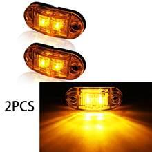 2 żółty owalne podłużne montaż powierzchniowy LED hamulec zatrzymać tylny kierunkowskaz ciężarówka z przyczepą zamknięte