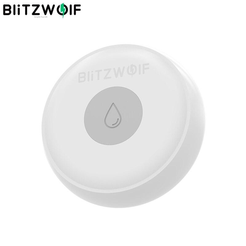 BlitzWolf BW-IS5 ZigBee Wireless Home inteligente, Smart Home Sensor de vazamento de água APP Detector de alarme remoto 50 metros Comunicação eletrônica inteligente