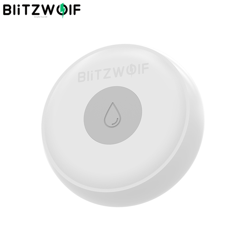 BlitzWolf BW-IS5 Wireless ZigBee smart Home, Smart Home Water Leak Sensor APP Remote Alarm Detector 50 Meters Intelligent Electronic Communication