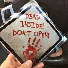 Hand Druck Aufkleber Auto Aufkleber Walking DEAD INNEN NICHT ÖFFNEN 14*14cm DIY