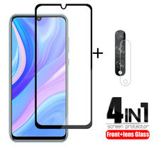2Pcs For Huawei Y8P Glass Tempered Glass for Huawei Y8P Y7P Y6P Y5P P Smart 2020 camera Screen Protector Glue Camera Lens Film