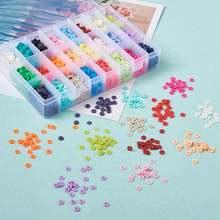Разноцветные экологические бусины из полимерной глины ручной