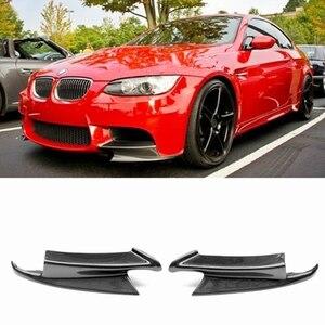 Image 2 - Parachoques delantero de fibra de carbono/FRP Convertible, divisores de labios, para BMW Serie 3, E92, E90, E93, Real, M3, Sedan, Coupe