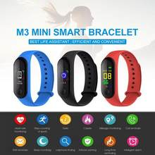 M3 Color Screen Smart Band Step Counter Heart Rate Blood Pressure Detection Smart Bracelet Reminder Waterproof Sports Wristband(China)