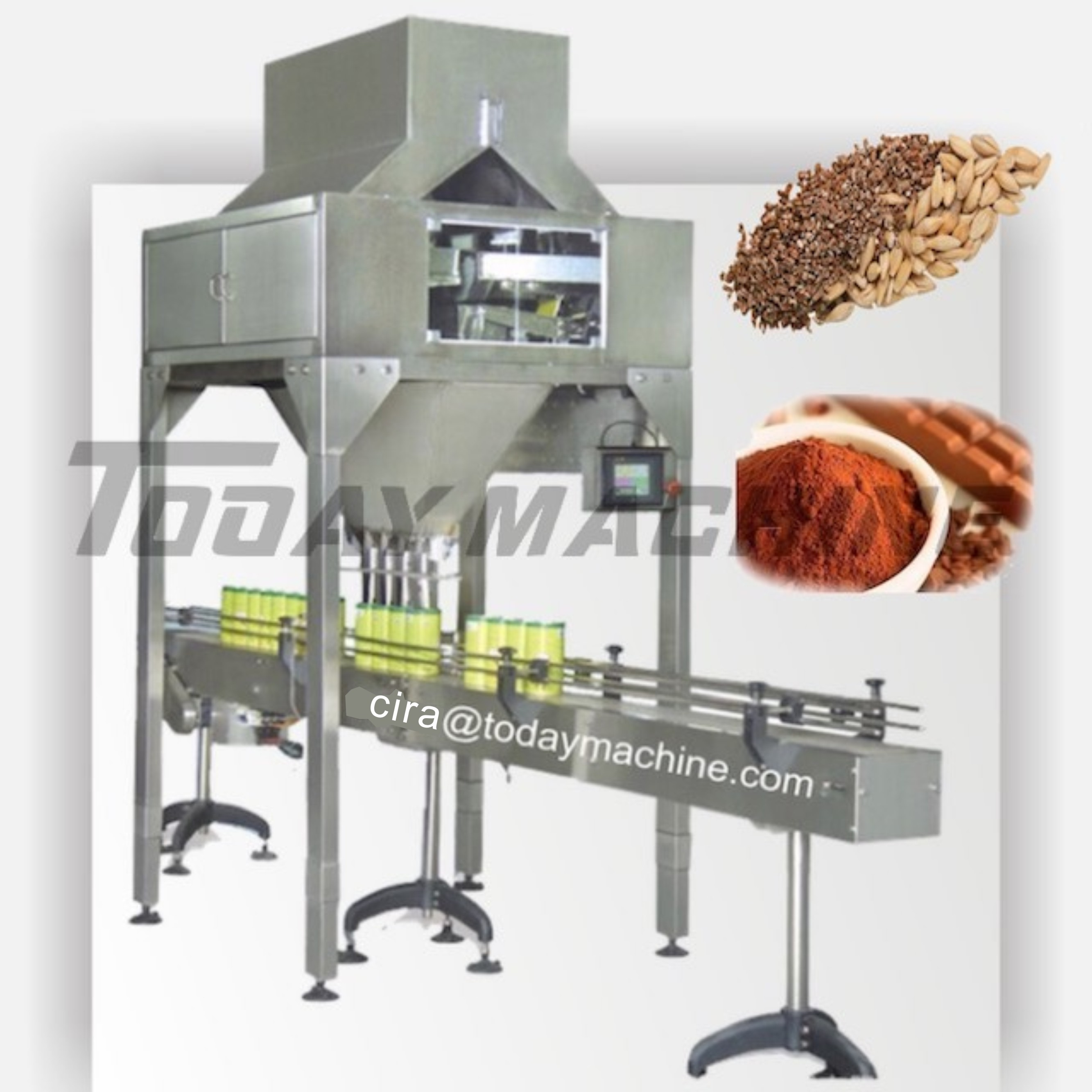 4 Heads Linear Scale / Linear Bucket Scale / Linear Weighing Machine With Packing Linear Weigher
