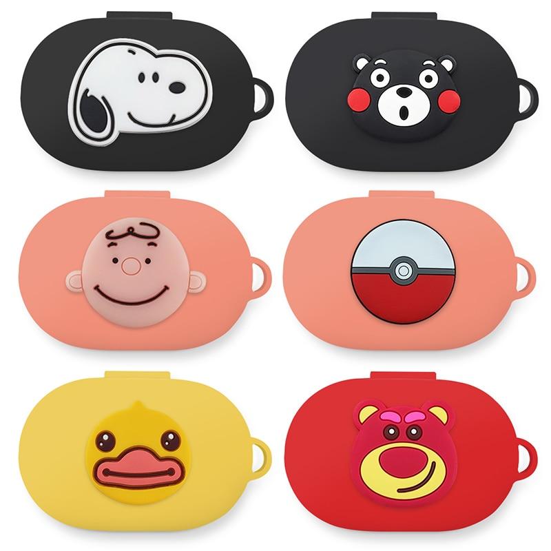 Cute Cartoon Silicone Case Cover For Xiaomi MI Redmi AirDots Version Wireless Bluetooth Earphone TWS Charging Case Funda