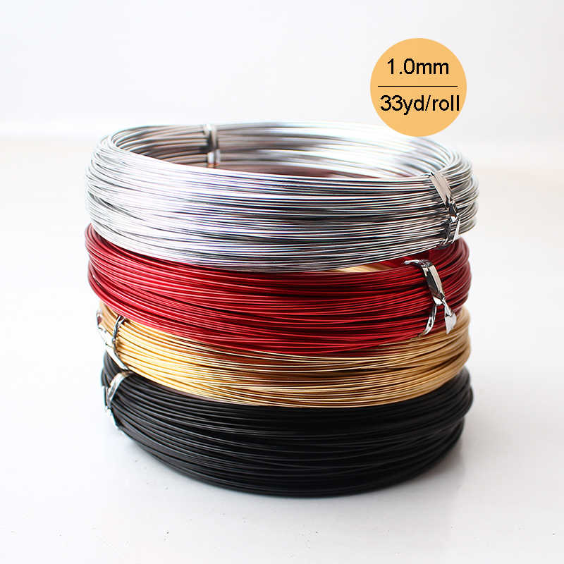 2 mm Silver Pink 5 meters jewelry creation Green Gold aluminum wire necklace Aluminum wire aluminum jewelry Copper