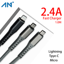 AN+ USB Type C Cable for Samsung S10 S9 3A Fast USB Charging Type-C Charger Data Cable for Redmi note 8 pro USB-C Cabo Wire SALE olaf nylon braided usb type c cable 1m 2m 3m data sync fast charging usb c cable for samsung s9 s10 xiaomi mi9 mi8 huawei type c