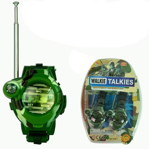 2pcs Walkie Talkies Watches Toys for Kids 7 in 1 Camouflage 2 Way Radios Mini Walky Talky Interphone Clock Children Toy Islamabad