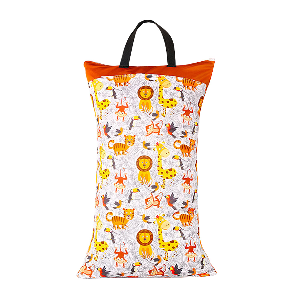Hanging Daily Wet Dry Large Capacity Double Zipper Inserts Nappy Washable Home Cloth Diaper Bag Portable Laundry Storage Baby