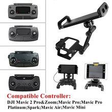 Dji mavic mini/1/pro/2/air/spark, controle remoto, suporte de extensão para celular e tablet suporte de montagem dianteira para controlador