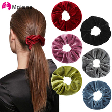 Hair-Ropes Ponytail Scrunchies Elastic Girl's Fashion Molans Solid New