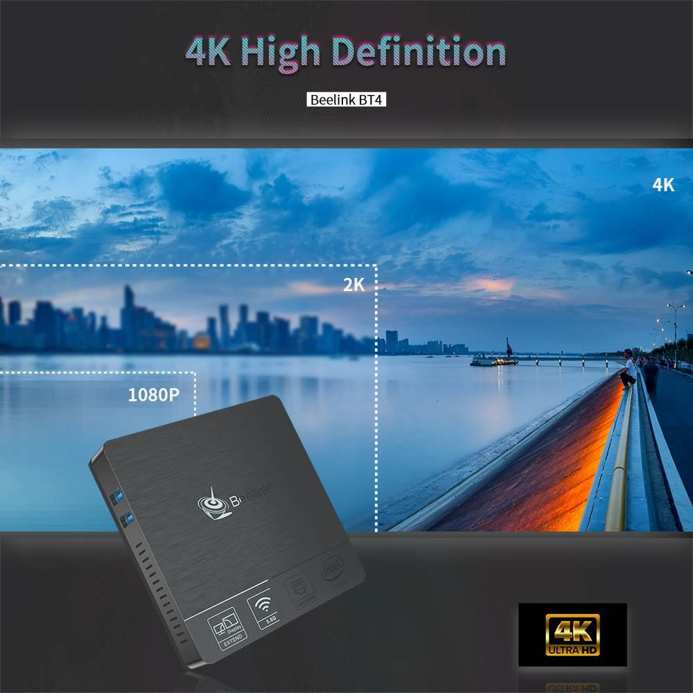 Beelink BT4 Mini PC IntelAtom X5-Z8500 4G64G 2.4G5G WIFI 1000Mbps LAN Windows 10 BT4.0 Support 4K Dual Screen VGA+HDMI USB3 (15)