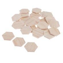 100 штук в упаковке, незавершенная мини Шестигранная резьба по дереву, идеально подходит для художественных и ремесленных проектов 1,97 дюйма x 1,77 дюйма