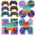 Игрушка-антистресс poppet, игрушка-антистресс, попсит, игровой контроллер, окрашенные в завязку силиконовые Сенсорные игрушки, пупырка, антист...