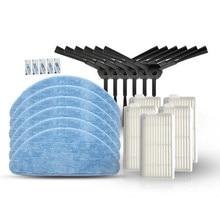6 * brosse latérale + 5 * filtre HEPA + 5 * tissu de vadrouille + 5 * pâte magique pour pièces daspirateur Robot IBoto Aqua X310