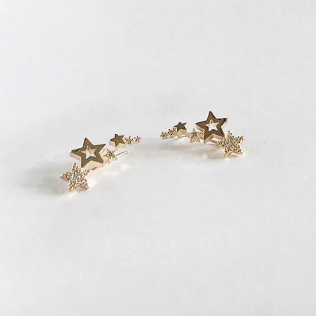 Huitan Hot Selling Simple Stylish Star Women Drop Earrings Shiny White Zircon Exquisite Versatile Female Earring Fashion Jewelry 6