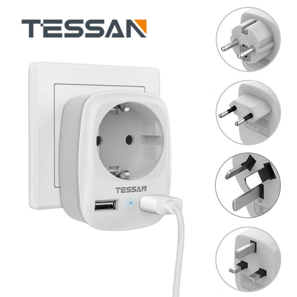 International Travel Plug Adapter mit EU Outlet und 2 USB Ports Wand Ladegerät Outlet Extender EU KR Zu AU UK UNS Reise Konverter