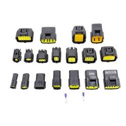 1 комплект, 1/2/3/4/6/8/10/12 /16Pin Way1.8 серия, Водонепроницаемый проводной разъем, Автомобильный Автоматический герметичный Электрический разъем