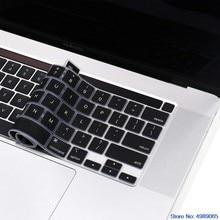 Protetor de capa de teclado pele de silicone para macbook pro 16 polegadas 2019 & novo macbook pro 13 2020 modelo: a2141 a2289 a2251