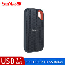 SanDisk SSD USB 3.1 Type C 1TB 2TB 250GB 500GB External Solid State Disk 500M/S external hard drive for Laptop camera or server(China)