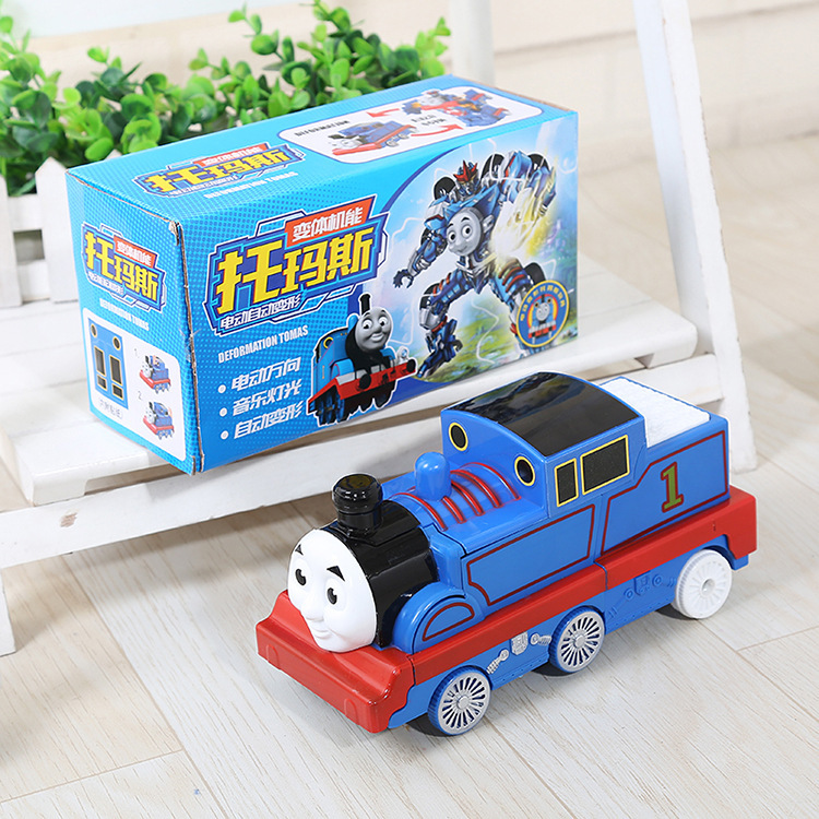 Automatic Transformation Thomas Small Train CHILDREN'S Electric Toys Music Lights Universal Walking Boy Toy Car