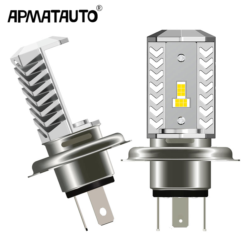 1pcs Motorcycle Headlight H4 9003 Led 1600LM Motorbike Light 15W Super White 6000K Moped Scooter Outdoor Lighting Hi-Lo Lights