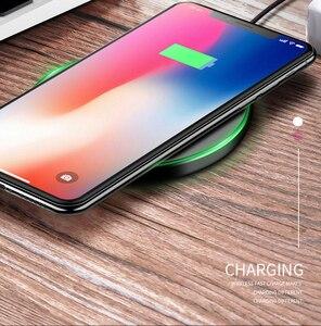 Image 5 - Bezprzewodowa ładowarka Qi 10W QC 3.0 telefon szybka stabilna ładowarka dla iPhone Samsung Xiaomi Huawei itp bezprzewodowa ładowarka USB Pad PK AUKEY