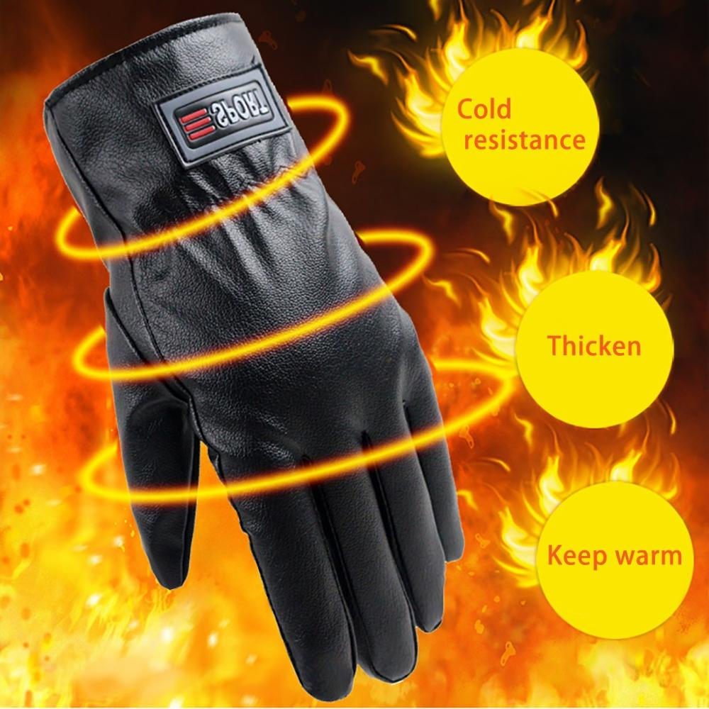 Snow Gloves Autumn Winter Thick Waterproof Non-slip Riding Driving Bike Ski Gloves Heated Gloves Guantes De Nieve Para Mujer 30S23