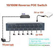10/100M odwrotny przełącznik POE wyjście 12V 5V zasilanie dla epon i gpon 8 port odwrotny zasilacz RPOE przełącznik POE Fast Ethernet pcba