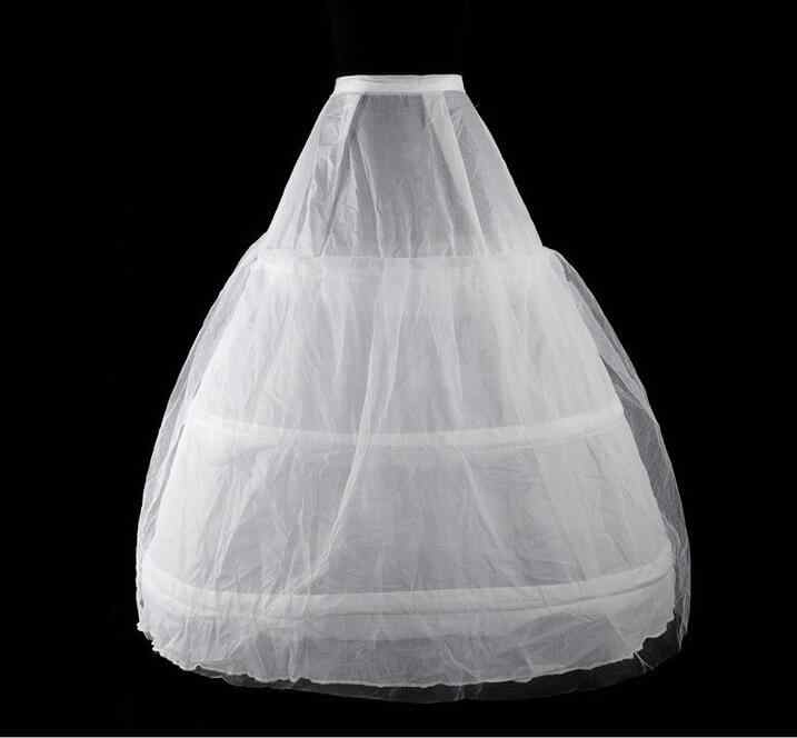Medieval Victorian Petticoat สีขาว 3 hoop กระโปรง petticoat สำหรับผู้หญิงหนึ่งขนาด