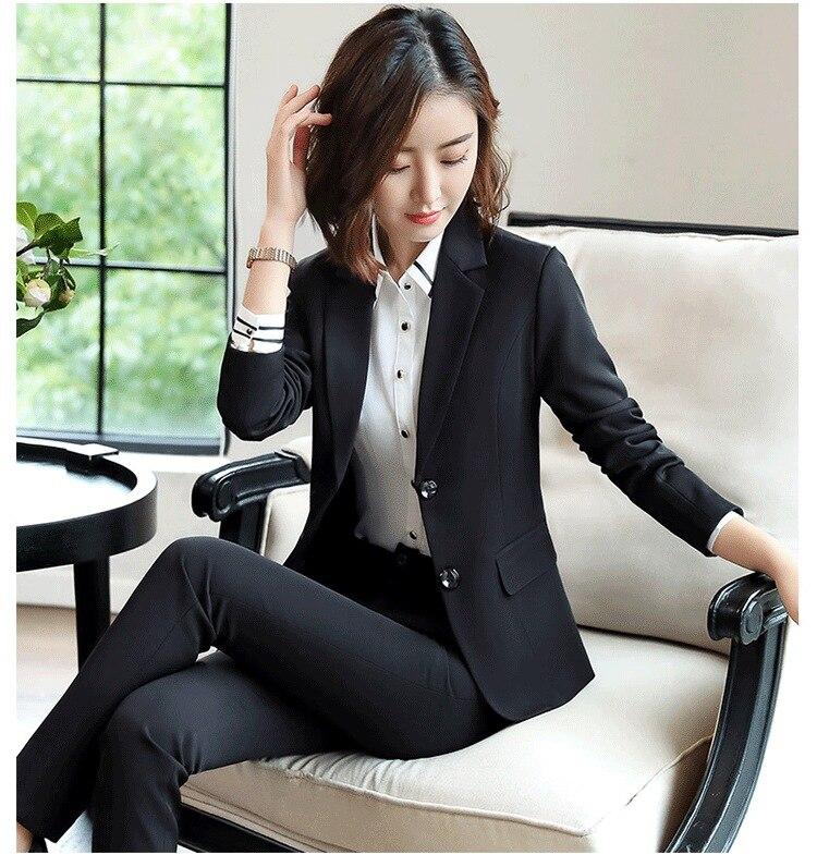 Black Blue Female Elegant Women's Skirt Suits Suit Dress Costumes Office Wear Blouse Skirt and Jacket Set 2 Set Piece Vest Shirt