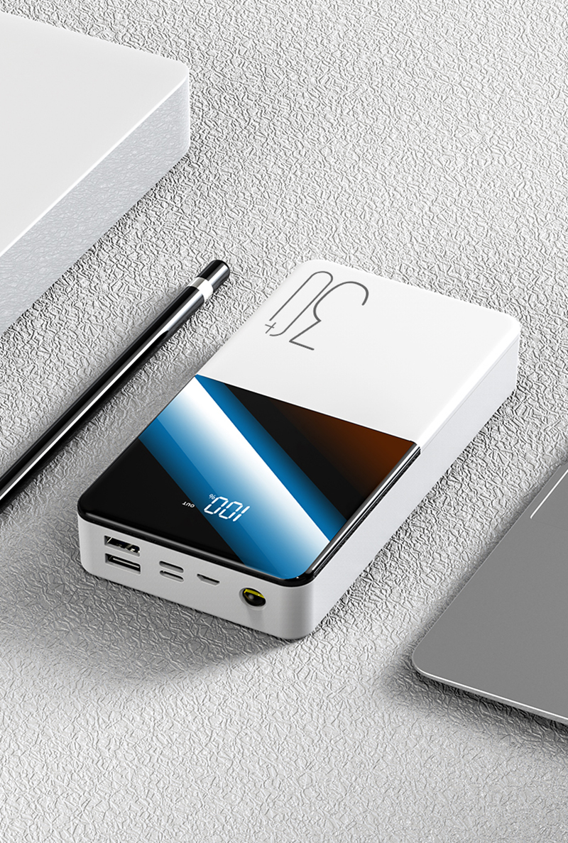 Portable Power Bank 30000mAh External Battery With QC Two-way Fast Charging For Phone 17