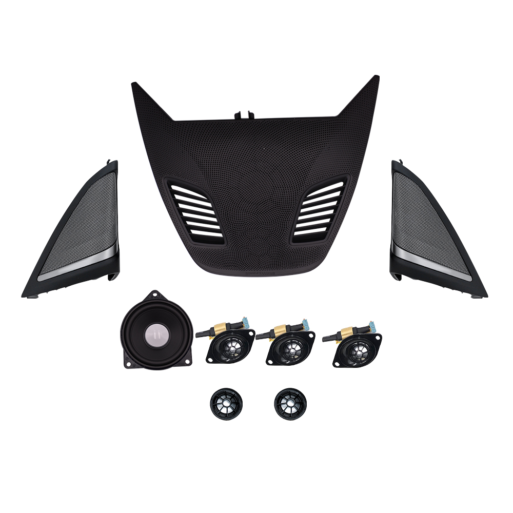 Combination speaker kit for bmw g30 center control panel mid range front rear tweeter and cover 9 pc set