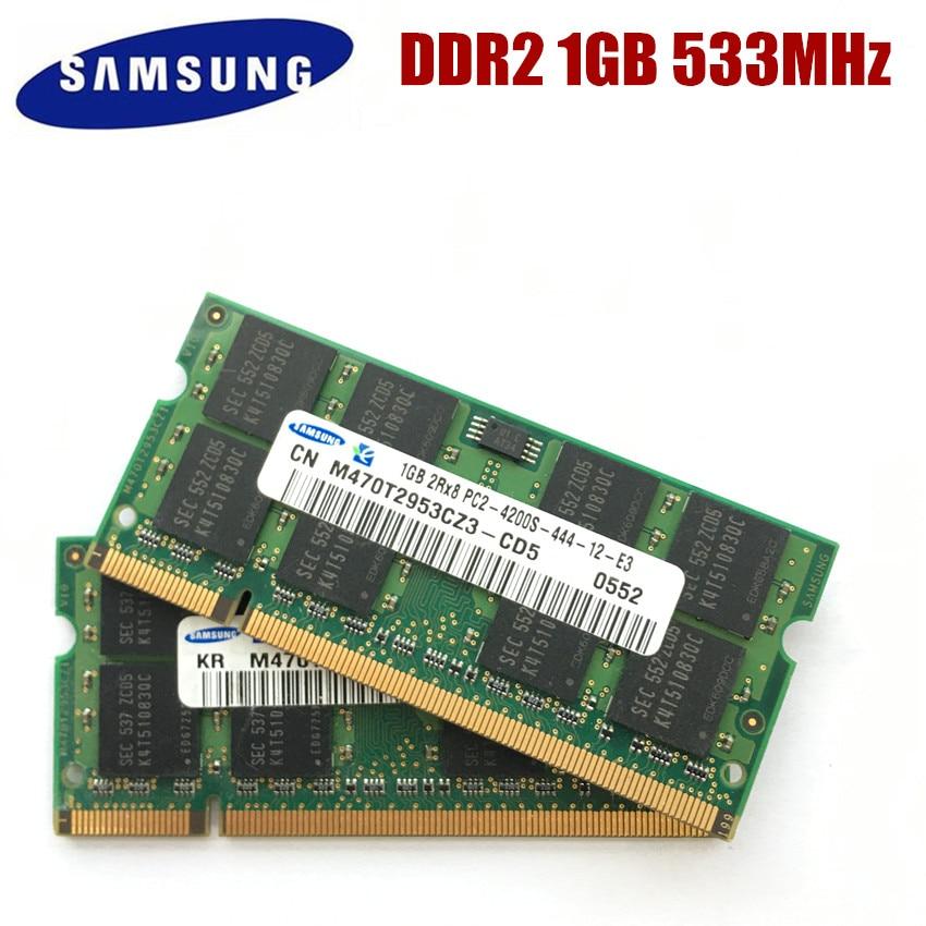 SAMSUNG 1GB 2GB PC2-4200S Laptoop RAM 1G 2G DDR2 533MHz PC2 4200S ноутбук память ноутбука