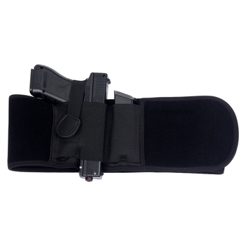 Right / Left Hand Tactical Pistol Belly Band Holster Concealed Military Gun Pouch Airsoft Shooting Hunting Belt Holsters 2