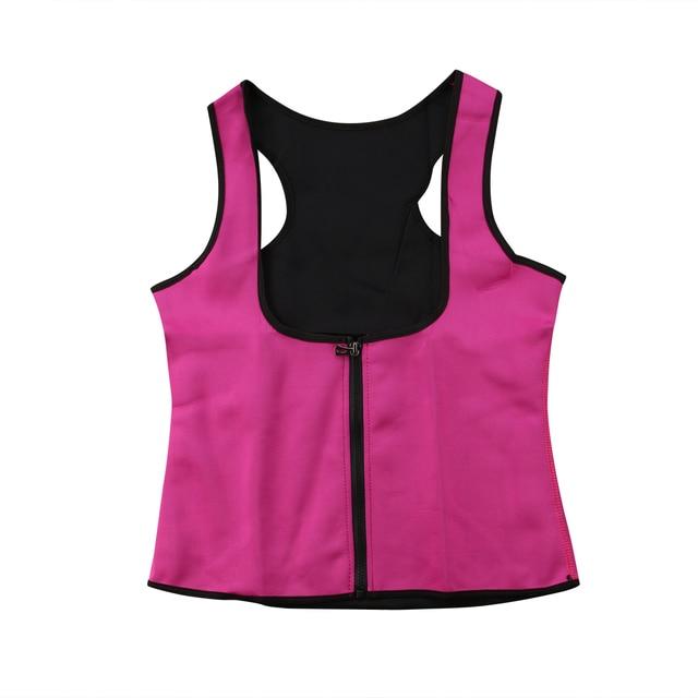 2020 Women Sweat Sauna Neoprene Back Support Slimming Waist Trainer Slim Belt Gym Soft Breathable Zipper Underwear Shaper Tops 2