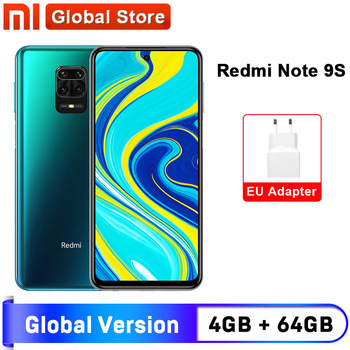 Global Version Xiaomi Redmi Note 9S 4GB 64GB  smartphone Snapdragon 720G Octa core 5020 mAh 48MP Quad Camera