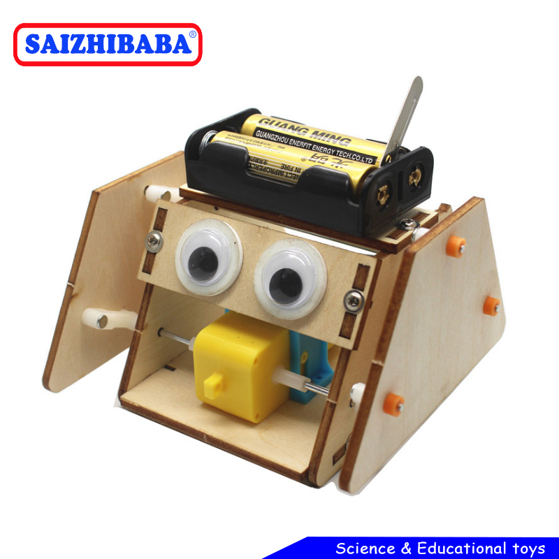 Saizhibaba DIY Electric Robot Rope Kids Science Discovery Toys STEM Education Physics Experiment Kit School Project