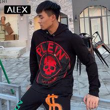 Алекс плейн толстовки мужские Стразы Череп цельный уличная одежда