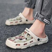 2020 New Summer Camouflage Crocs Shoes Man Sandals Beach Sandals Clogs Crocks Ma