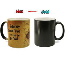 Drop Shipping New 1Pcs 350mL Magic Rune Marauders Map Mischief Mangaed Color Changing Cup Sensitive Ceramic Coffee Tea Mugs Cup