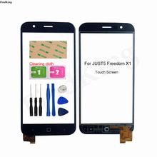 5'' Mobile Phone Touch Screen For JUST5 Freedom X1 Touch Screen Front Glass Digitizer Touch Panel Sensor Lens Adhesive