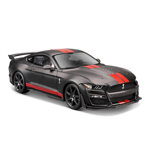Maisto 1:18 black 2020 Shelby Cobra GT500 car alloy car model simulation car decoration collection gift toy Die casting model