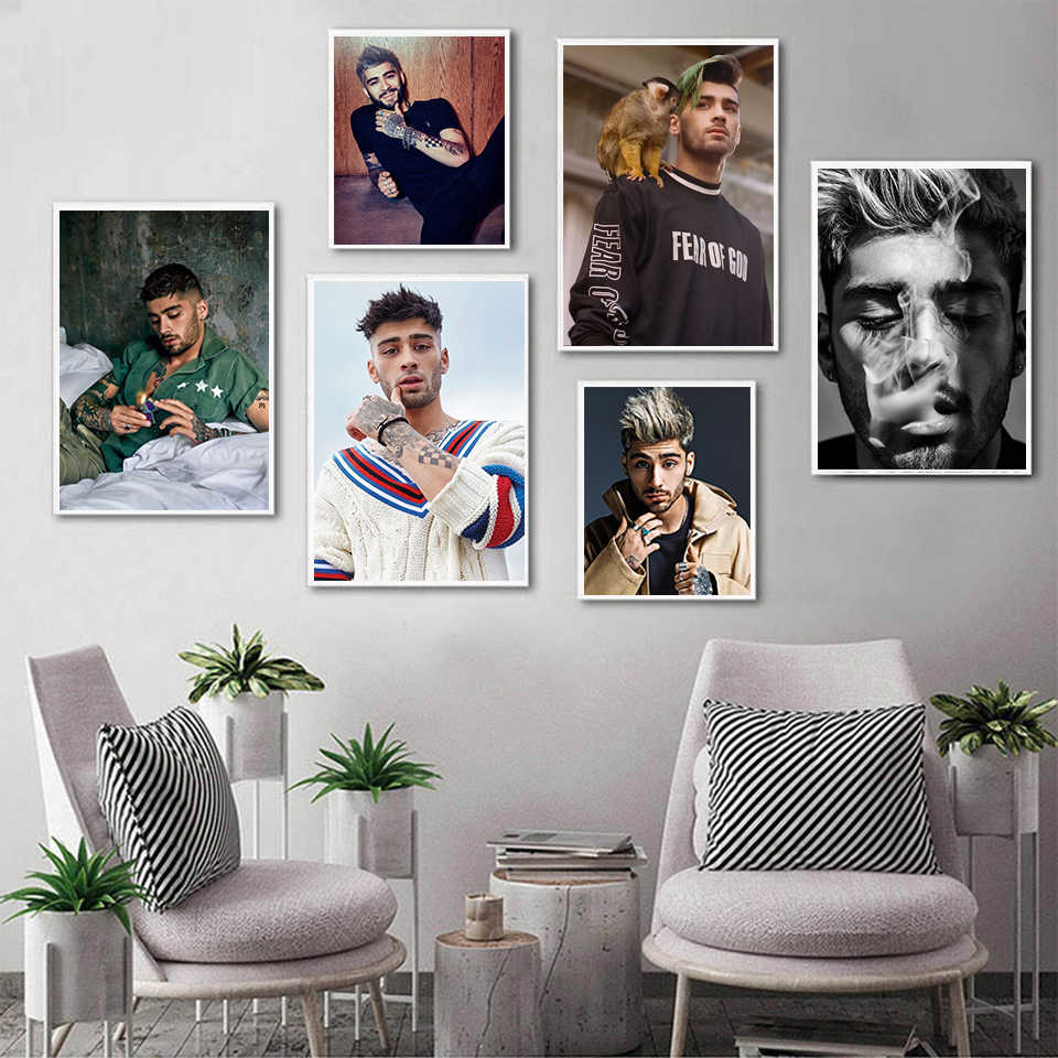 One Direction Lid Zayn Malik Celebrity Poster Wall Art Foto Modern Home Decor Kamer Decoratie Kwaliteit Canvas Schilderij