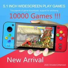 Multipurpose 5.1 Inch Large Screen Handheld Game Player support MP3 Camera Video TV output Multimedia Game Console 10000 Games 4 3 inch touch screen handheld game consoles psp games console support hd output 8g memory mp5 with camera ultra thin player